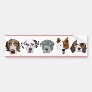 Different Dog Bumper Sticker