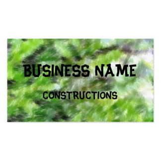 Different green pattern pack of standard business cards