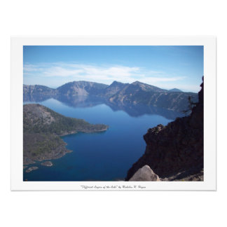 """Different Layers of the Lake"" Crater Lake Photo Print"