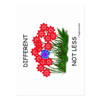 Different Not Less Postcard