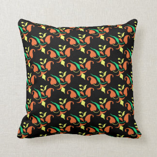 Different Sides Floral Print Throw Pillow