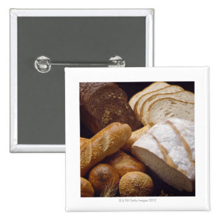 Different types of artisan bread pinback button