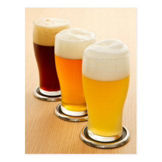 Different types of beer postcard