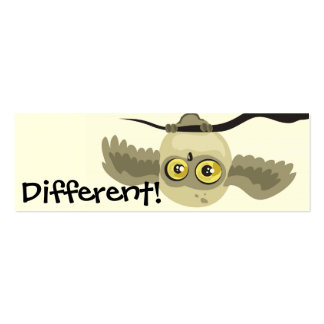 Different! upside down owl bookmark business card templates