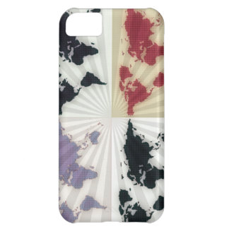 Different world maps iPhone 5C case