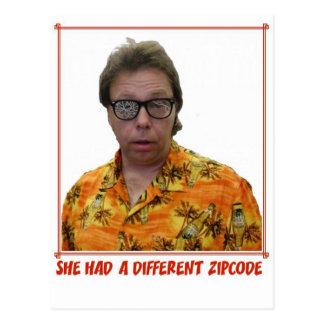Different Zipcode Postcard