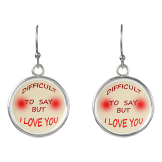 Difficult to Say I Love You Drop Earrings