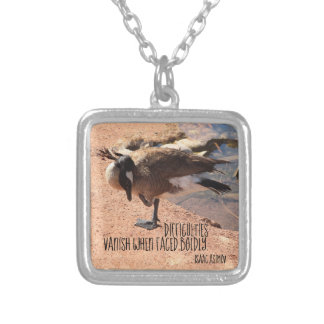 difficulties vanish silver plated necklace