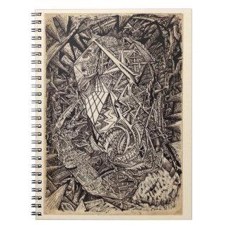 Diffracted (cavern dweller) spiral notebook