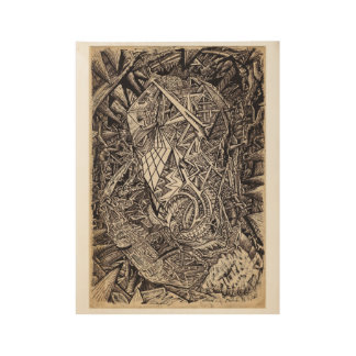 Diffracted (cavern dweller) wood poster