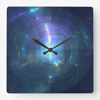 Diffraction Square Wall Clock