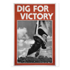 Dig For Victory Postcard