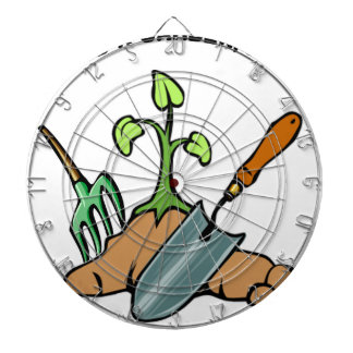 Dig it, life is a Garden Dartboard With Darts