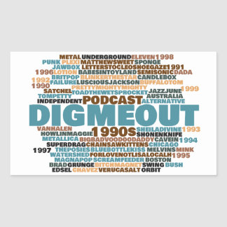 Dig Me Out Word Cloud Rectangular Glossy Sticker