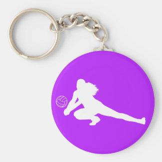 Dig Silhouette Keychain Purple