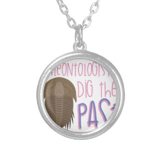 Dig The Past Silver Plated Necklace