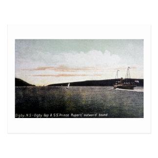 Digby Nova Scotia, Digby Gap - S.S. Prince Rupert Postcard