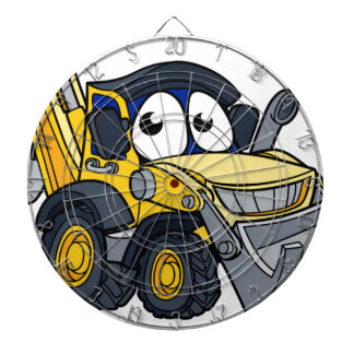 Digger Bulldozer Cartoon Character Dartboard
