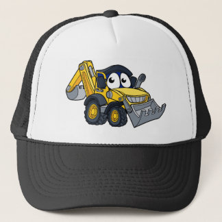 Digger Bulldozer Cartoon Character Trucker Hat