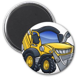 Digger Bulldozer Cartoon Magnet