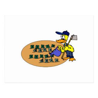 Digger Duck Postcard