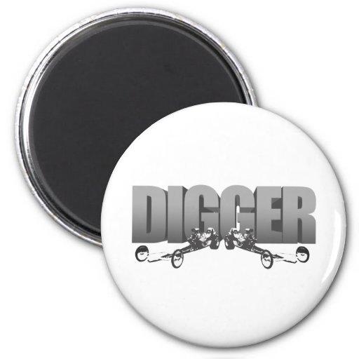 Digger Front Engine Slingshot Dragster Fridge Magnet