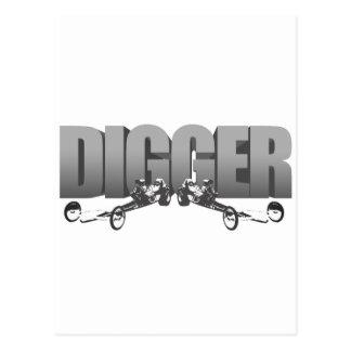 Digger Front Engine Slingshot Dragster Postcard