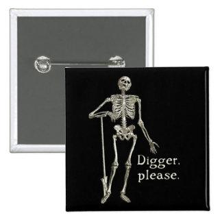 Digger, Please 15 Cm Square Badge