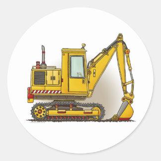 Digger Shovel Construction Sticker