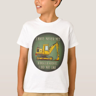 Digger Shovel Operator Quote Kids T-Shirt