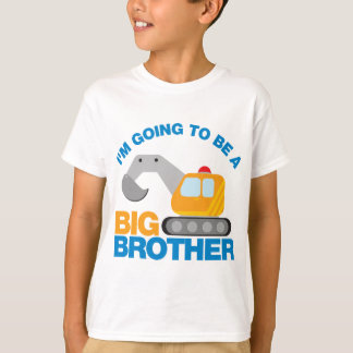 Digger Truck Going To Be A Big Brother T-Shirt