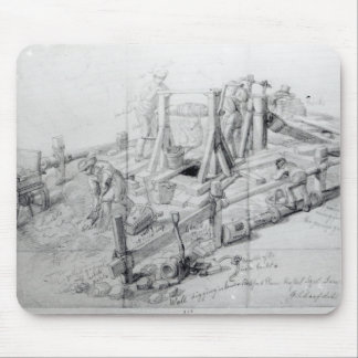 Digging a well in Lower Bedford Place, London Mousepad