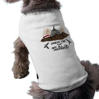 Digging for Christmas Sleeveless Dog Shirt