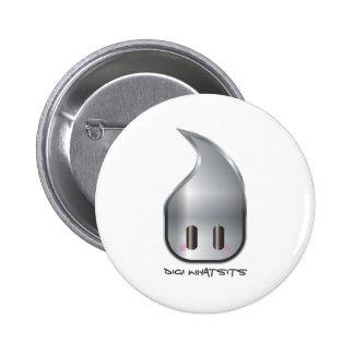 Digi Whatsits Logo (Silver Large) Buttons
