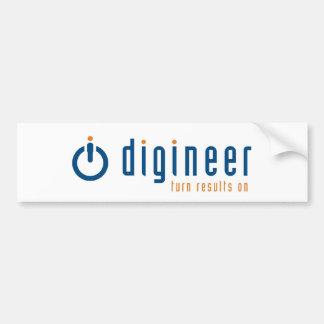 Digineer Logo Bumper Sticker Car Bumper Sticker