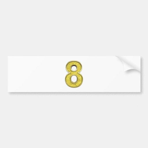 digit eight bumper sticker