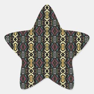 Digital Abstract Art Imperial Pattern Star Sticker