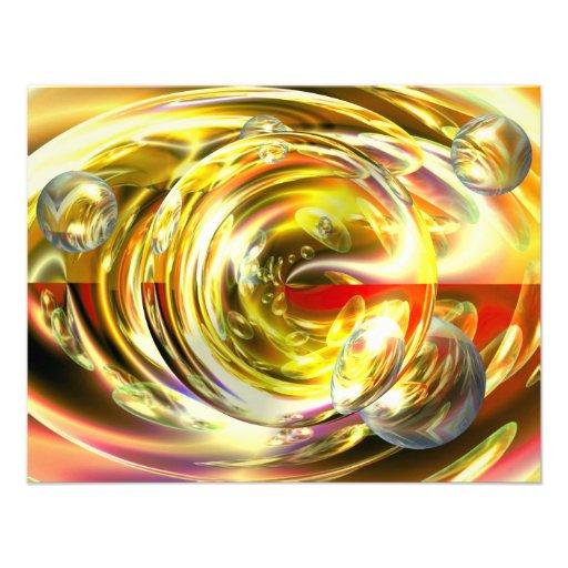Digital Abstract Art Custom Invite