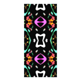 Digital Abstract Art Multicolored Pattern Rack Card Template
