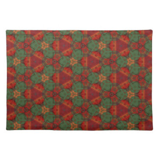 Digital Abstract Holiday Holly Placemat