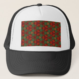 Digital Abstract Holiday Holly Trucker Hat