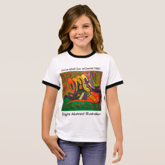Digital Abstract Illustration DAI C Ringer T-Shirt