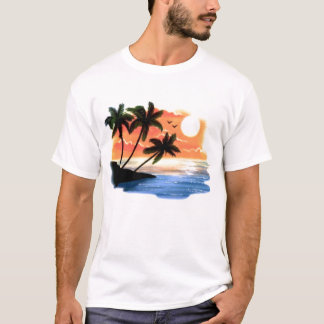 Digital Airbrushed Beach Scene T-Shirt