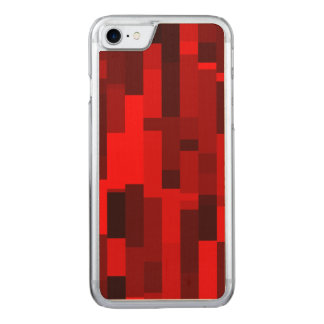 Digital Art Abstract Red Rectangles Carved iPhone 8/7 Case