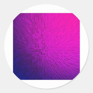 Digital Art Beautiful Design Style Fashion Fame Fl Round Sticker