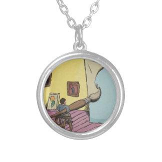 Digital Art - Big Ideas Silver Plated Necklace