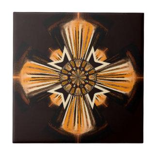 Digital art cross small square tile