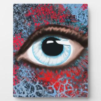 Digital art, eye designed of marine Nygren Plaques