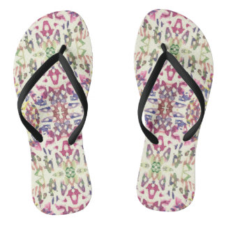 Digital Art Pattern Flip Flops