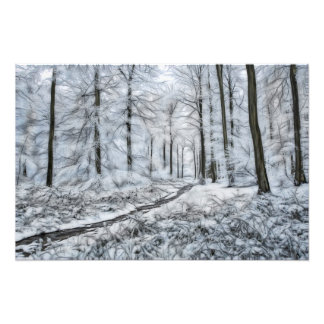 Digital Art - Winter Wonderland Photographic Print